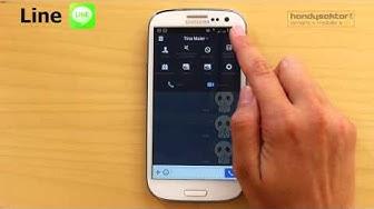Line im Handysektor-App-Test