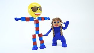 BABY SUPERHEROES PLAY FUN BABY GAMES - Stop Motion Play Doh Movie For Kids