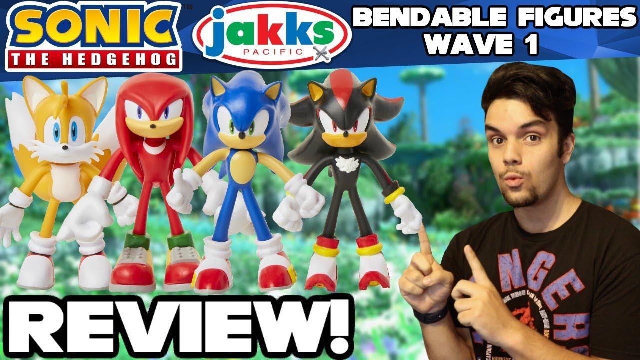 Sonic The Hedgehog Jakks Pacific Bendable Figures Wave 1 Review Unboxing Youtube