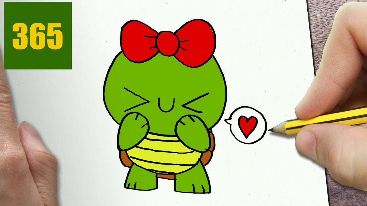 Come disegnare tartaruga kawaii passo dopo passo disegni for Disegni facili kawaii