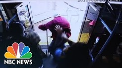 Video Shows Moment Woman Pushes Elderly Man Off Las Vegas Bus   NBC News