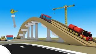 Construction Trucks for Children - jcb - trains for children - JCB Excavator - Trucks Cartoon