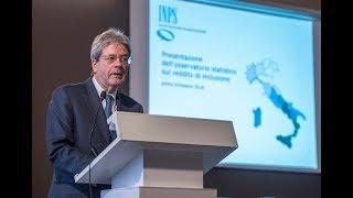 Gentiloni interviene alla conferenza sul Reddito di Inclusione (28/03/2018)