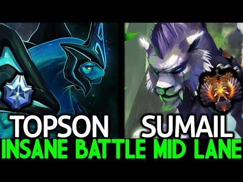 TOPSON Morphling VS SumaiL Mirana Insane Battle Mid Agi Hero 7.22 Dota 2