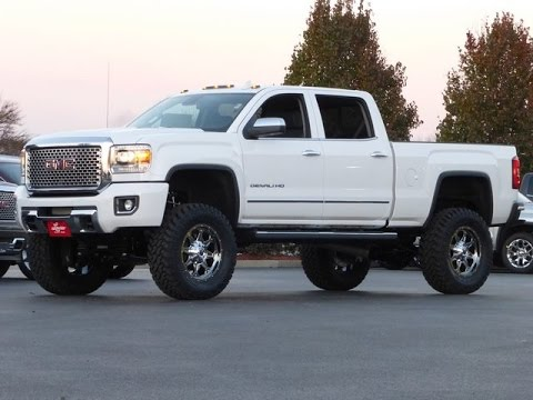 2015 gmc sierra 2500hd diesel denali crew cab lifted truck youtube. Black Bedroom Furniture Sets. Home Design Ideas