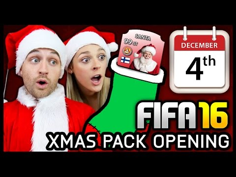 XMAS ADVENT CALENDAR PACK OPENING #4 - FIFA 16 ULTIMATE TEAM