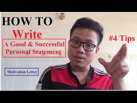 How to Write a Successful Personal Statement