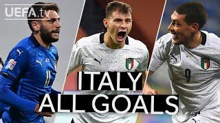 BERARDI BARELLA BELOTTI ITALY 2020 21 UNL Group Stage All GOALS