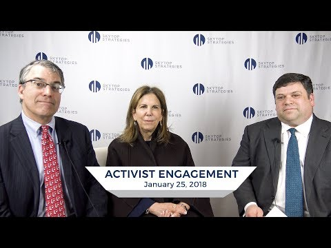 Activist Engagement From the Issuer's Perspective | Skytop Strategies