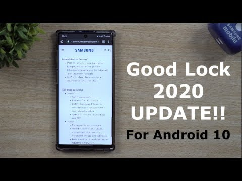 Good Lock 2020 Update + New Features Listed Out (Android 10 Support)