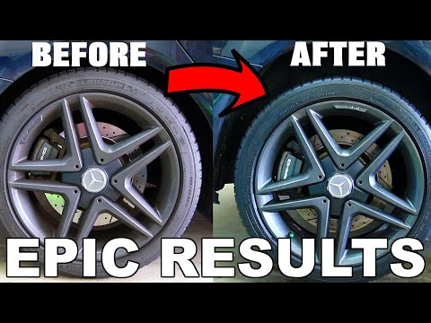 Clean Your Wheels And Tires Fast! Before And After Car Cleaning Results