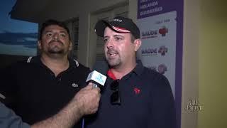 Vereador André Cabó e Davi Holanda expressam contentamento com a chegada da nova ambulância no Distrito de Castanhão