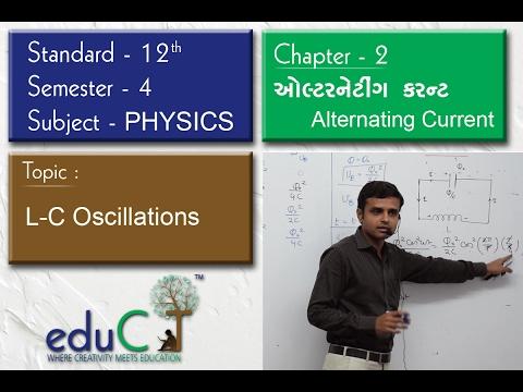 Physics:  Alternating Current L-C Oscillations(STD 12 Sem 4 - Chap - 2)