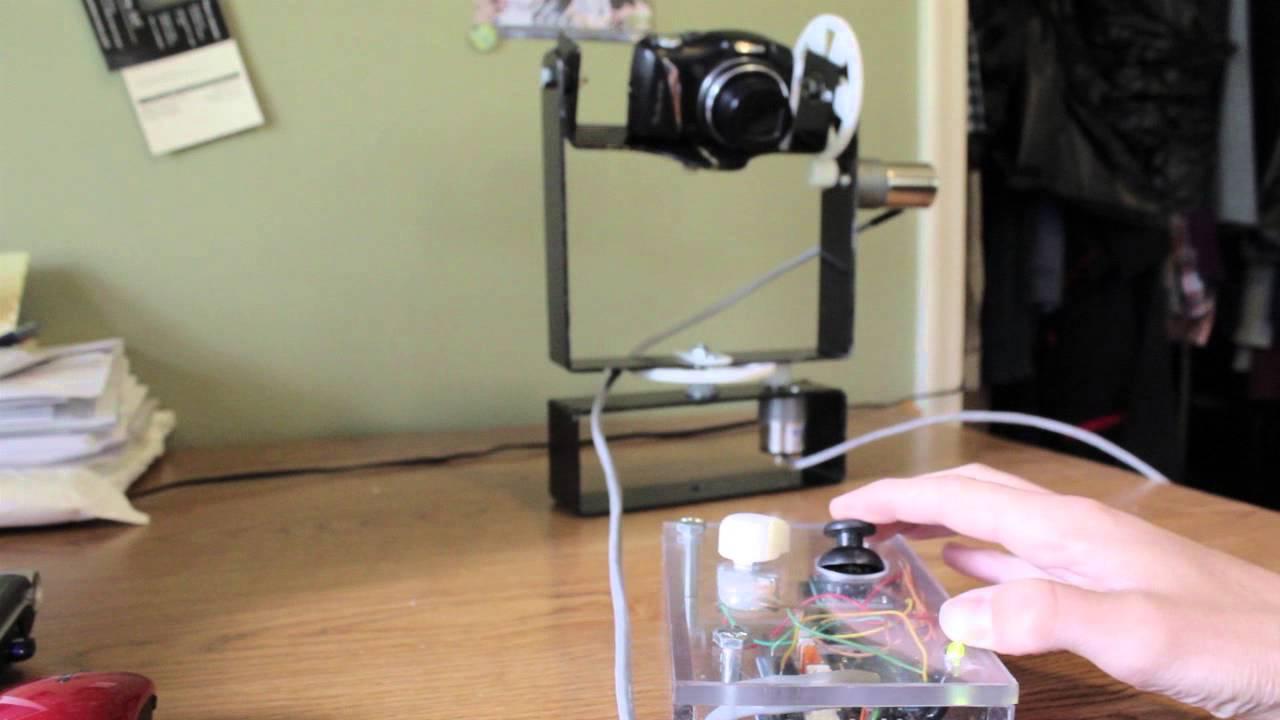 Diy Pan Tilt Camera Mount Youtube