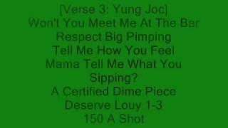 T-pain ft Young joc - buy you a drank (lyrics)