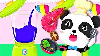 Baby Play Kitchen Game - Learn Colors & Guess What Color Juice ! Baby Fun Cooking Games