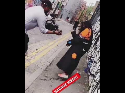 BTS Video shoot #tiwasavage killing it