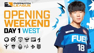 Overwatch League 2021 Season | Opening Weekend | Day 1 - West