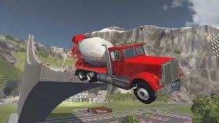 BeamNG.Drive Большая подборка аварий #7 Машины летят с горы и разбиваются  BeamNG Drive