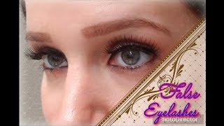 How to Apply False Eyelashes Simple Easy Quick!!