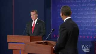 Romney Wishes Pres. Obama A Happy Anniversary - Presidential Debate