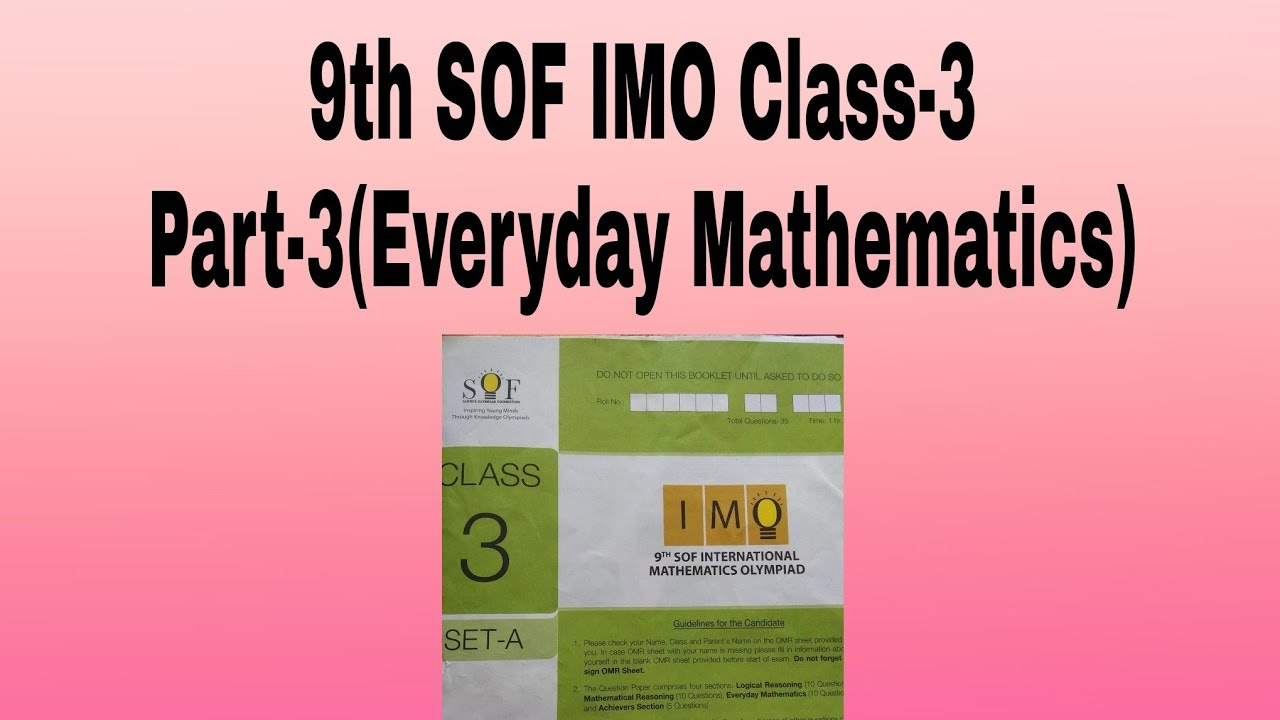 IMO Olympiad papers,9th sof class -3 IMO papers