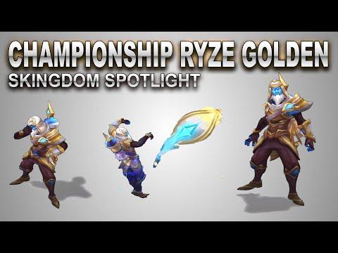 Championship Ryze Golden Skin Spotlight | SKingdom - League of Legends