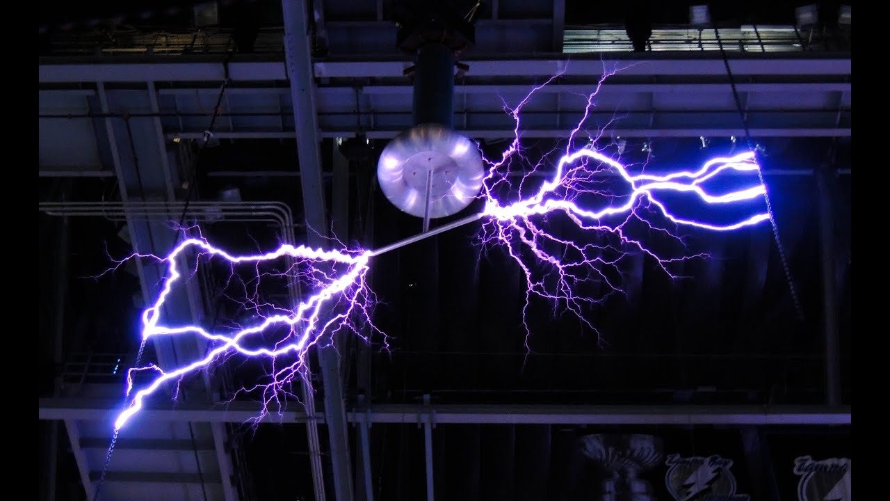 Perfect Tesla Coil Lightning Tampa Bay Lightning Amalie Arena Lightning Tampa Bay  Times Forum Lightning   YouTube Home Design Ideas