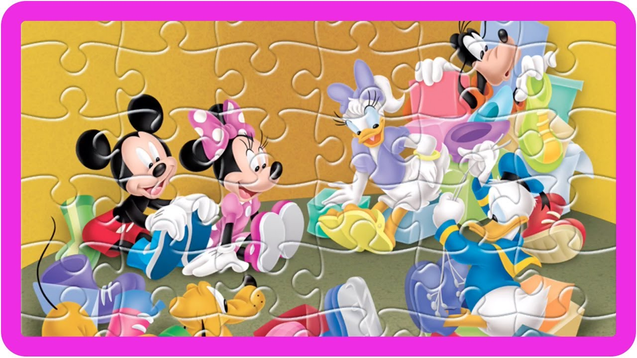 disney mickey mouse jigsaw puzzles mickey mouse clubhouse friends games for children toys for kids - Childrens Games Free Disney