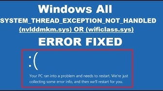 How to Fix System Thread Exception Not Handled Error Windows 10