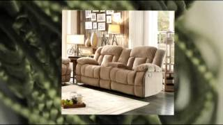 Homelegance 9636nf-2 Double Glider Reclining Loveseat With Center Console Taupe Fabric