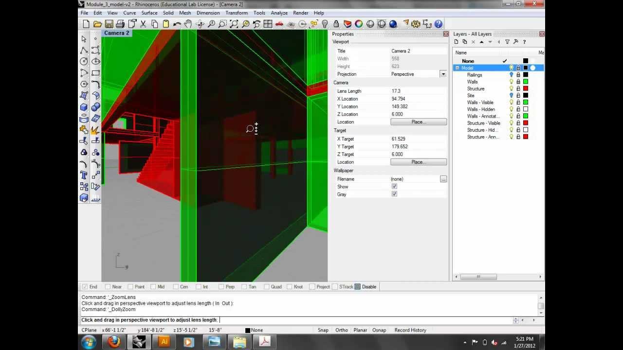 ARCH2102 - 3D Diagrams: Rhino Make2D to Illustrator