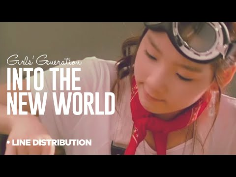 SNSD - Into the new world: Line Distribution