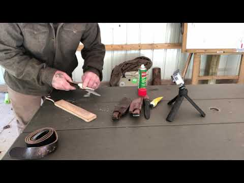 Using a Strop to Clean, Sharpen, and Hone your Blades