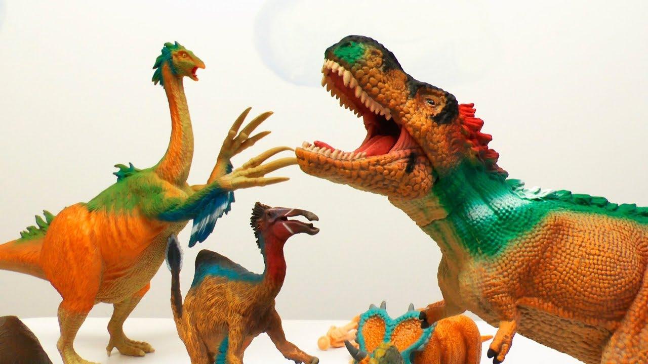 Динозавры для детей. Распаковка игрушек Сollecta - Коллекта. Видео про динозавров.
