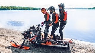 SNOWMOBILE ON WATER WITH 3 PEOPLE??? | VLOG² 73
