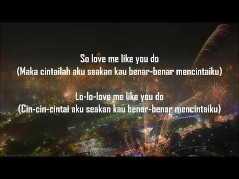 Makna lirik lagu love me like you do