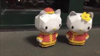 Hello Kitty Papercraft: In New Year Cloth