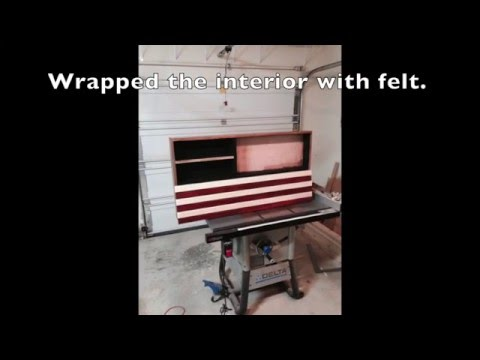 American Flag Concealed Gun Cabinet