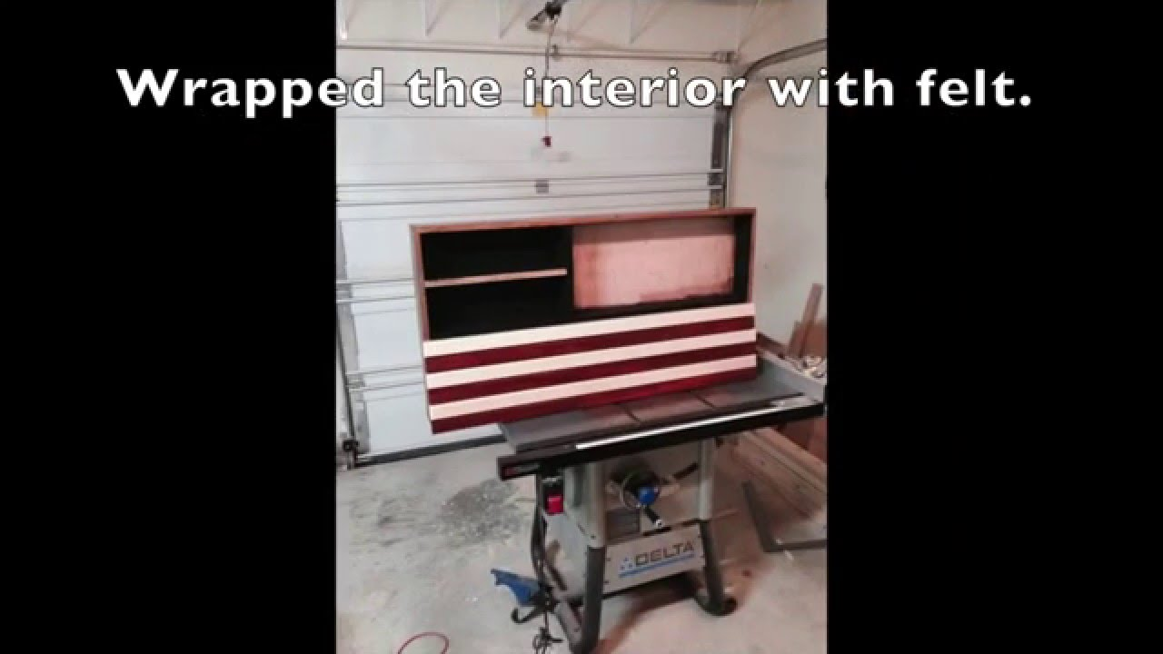 American Flag Concealed Gun Cabinet Youtube