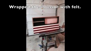 This video is not available. American Flag Concealed Gun Cabinet