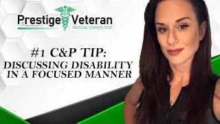 Discussing VA disabilities in a focused manner.