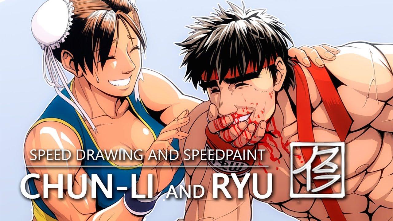 Speed Drawing Street Fighter Fanart Youtube