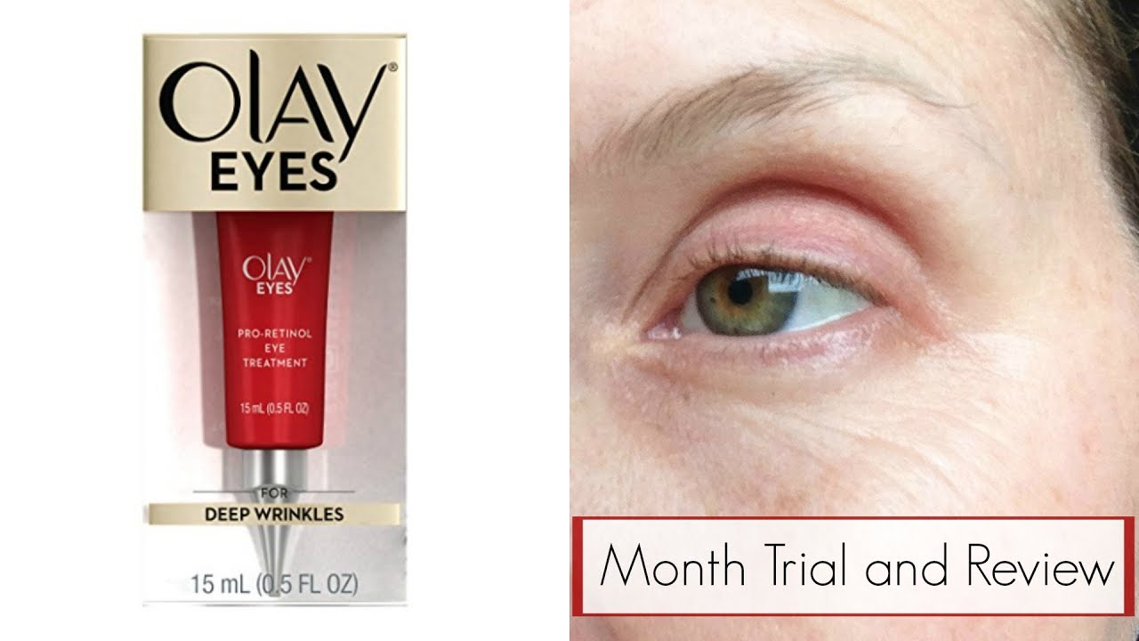 Olay Eyes Pro Retinol Eye Treatment Trial Review Youtube