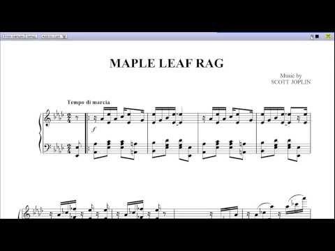 Maple Leaf Rag - Piano Solo Sheet Music: Teaser