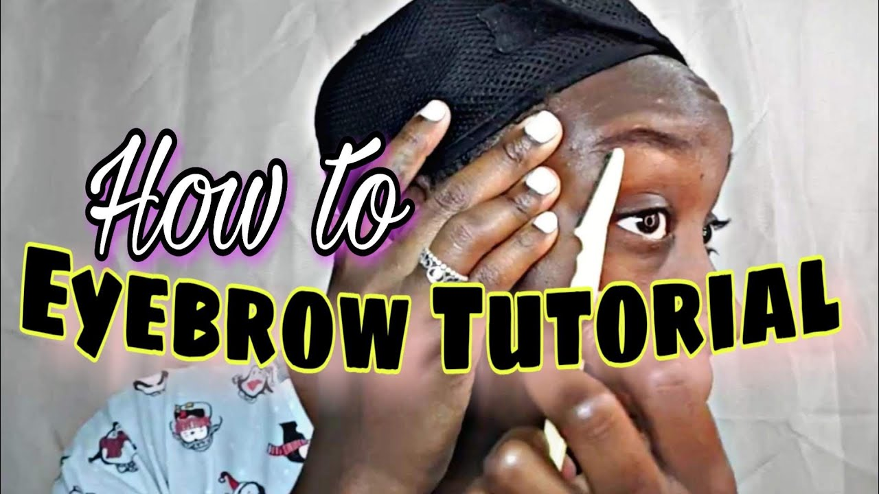 How To Shave Your Eyebrows | Beginner Tutorial | # ...