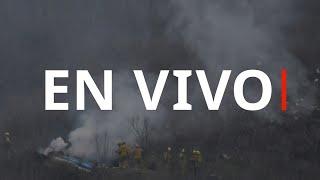 EN VIVO: El lugar donde se estrelló el helicóptero de Kobe Bryant
