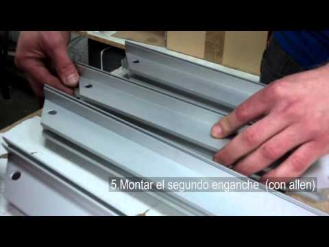 Instalacion perfil aluminio gola vertical y horizontal for Duchas modernas sodimac