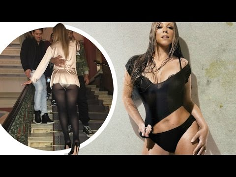 Mariah Carey Shows Off Her Butt in Skimpy Outfit Before Concert !!