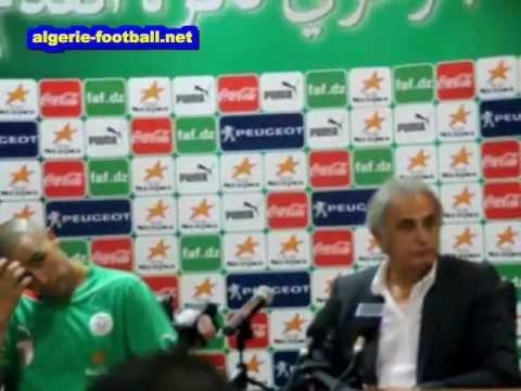 Algérie-Centrafrique: Conférence de presse  après le match d'Accrosi et d'Halilhodziic